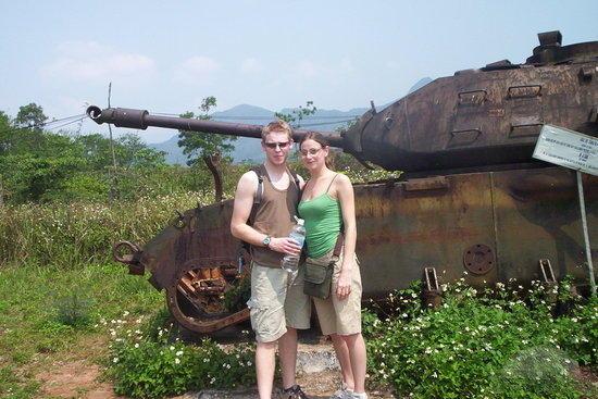 han and paul at khe sanh combat base hue 640x480 - HUE – DMZ VIETNAM – HUE/ 01 DAY